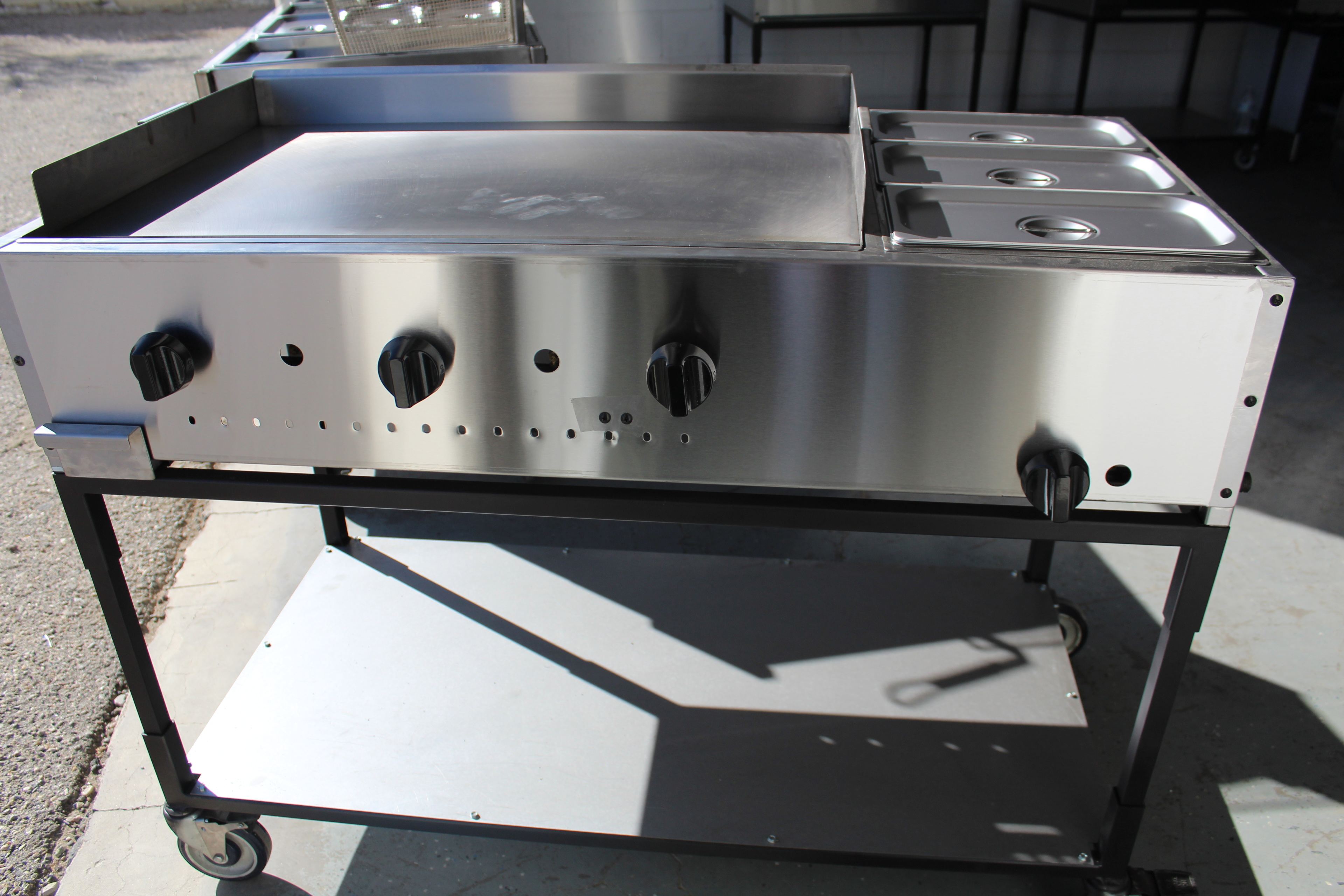 1 48 Quot Taco Cart Griddle And Steam Pan Plancha Con Vaporera